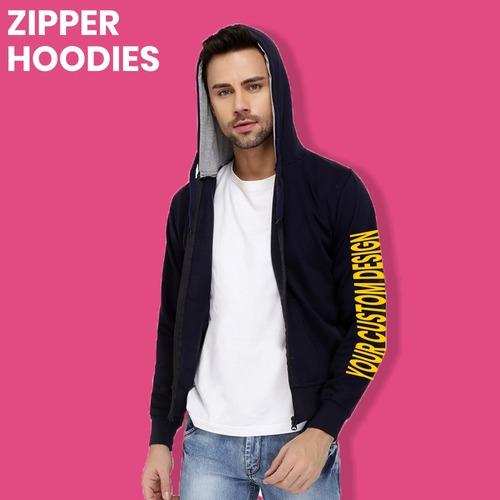 Printed Zipper Hoodies For Mens
