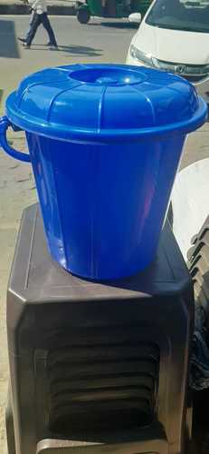 Blue Color Plastic Dustbin