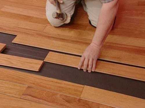 Brown Laminated Wooden Flooring