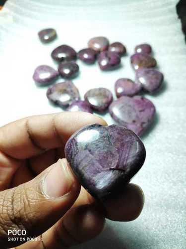 Heart Shape Ruby Gemstone