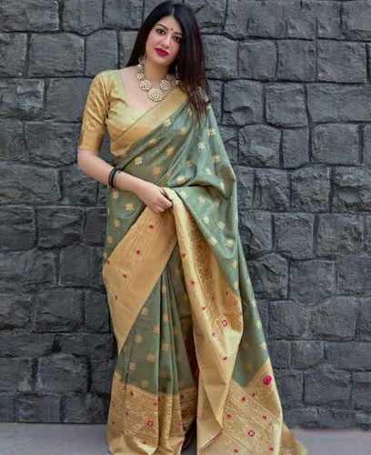 Ladies Party Wear Pure Silk Saree