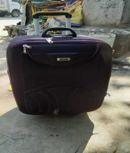 Plain Tourist Trolley Bags, Closure Type: Zipper
