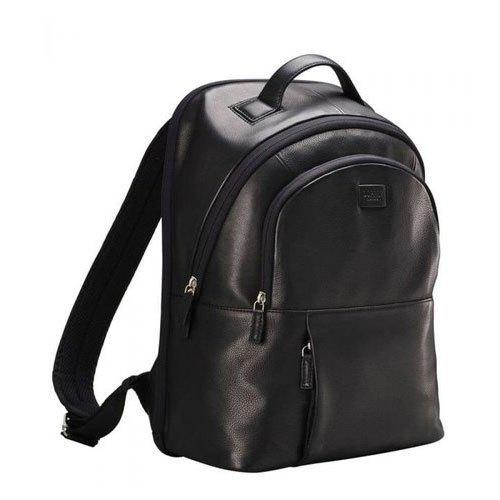 Black Leather Mens Backpack