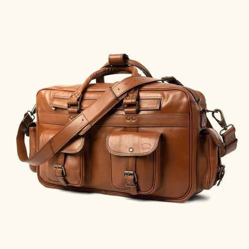 Brown Roosevelt Leather Luggage Bag