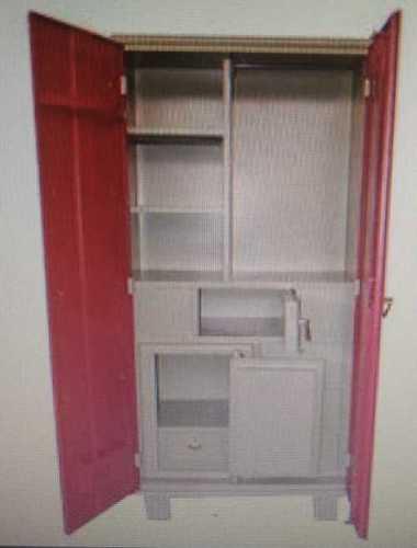 Double Door Steel Almirah Design With Rails Price 10000 Inr Piece Id 6303207