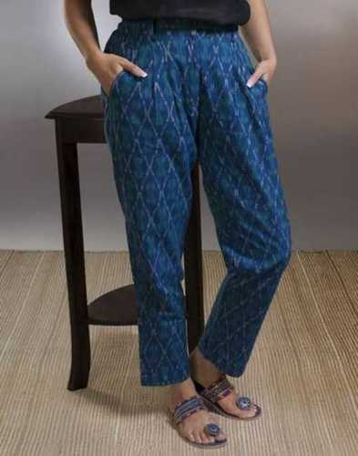 Ladies Blue Color Palazzo Pant