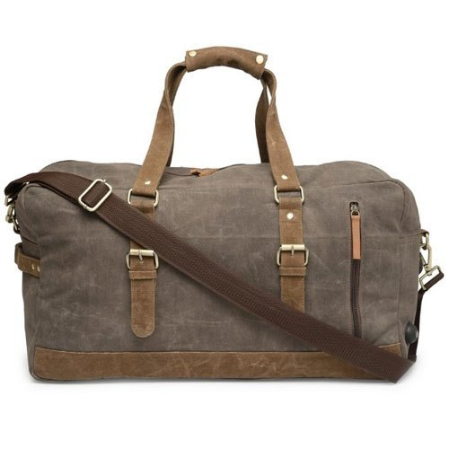 Leather Luggage Grey Bags