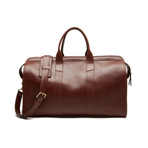 Men Brown Leather Luggage Bags