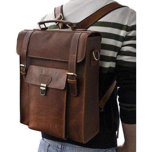 Mens Backpack Leather Bag