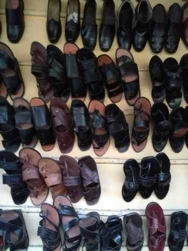 Mens Party Wear Leather Slippers