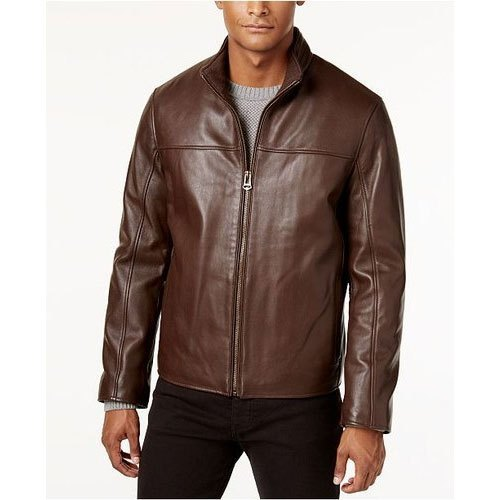 Mens Plain Leather Jacket