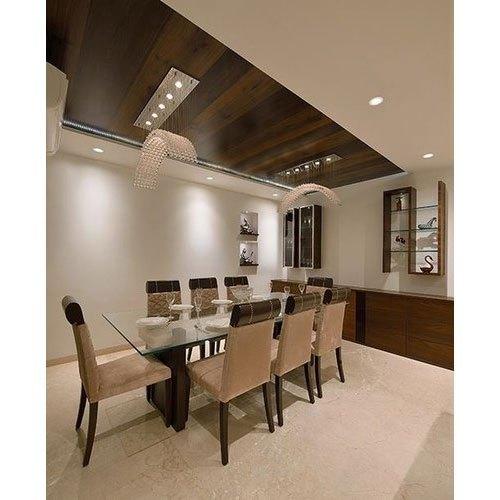 Rectangular Shape 8 Seater Dining Table Set