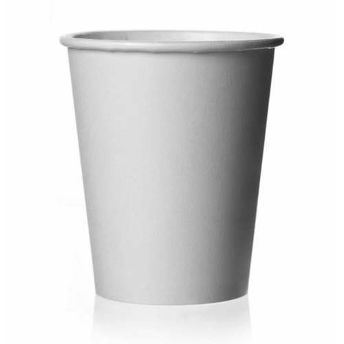 White 250 Ml Disposable Paper Glass
