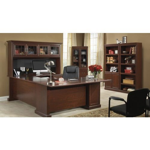 Wooden L Shape Office Director Table