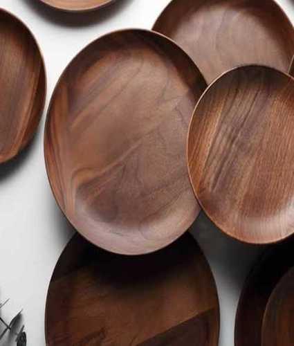 Wooden Round Serving Plates