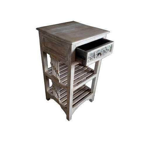 Rectangular Shape Wooden Side Table for Multiple Use