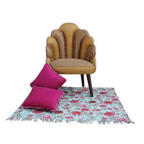 Wooden, Velvet Fancy Wooden Chair