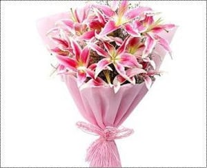Luxurious Pink Asiatic Lilies Bouquets