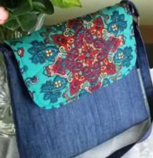 Embroidered Jeans Hand Bags