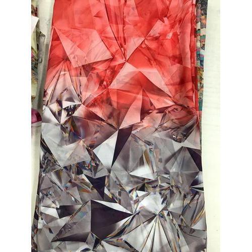 Polyester Georgette Digital Printed Fabric