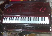 Brown Wooden Scale Changer Harmonium