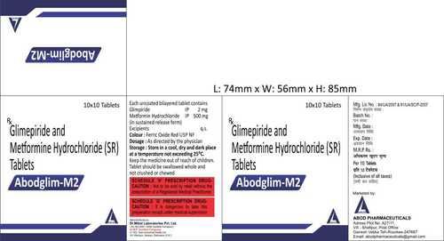 Glimepride And Metformin Hcl Sr Tablet