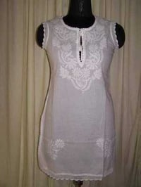 Ladies Chikan Embroidery Tops