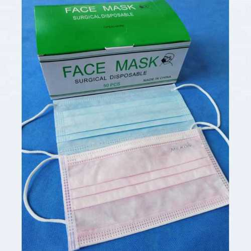 Medical Earloop Disposable Surgical Face Mask Material: 100% Cotton