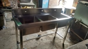 3 Way Commercial Kitchen Sink