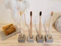 Concrete Toothbrush Holders (Set Of 2)