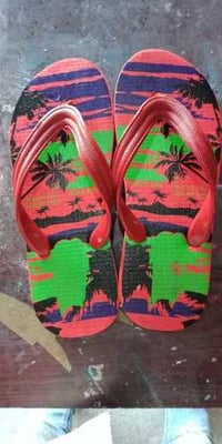 Rubber Printed Flip Flop Slipper With Rubber Strap