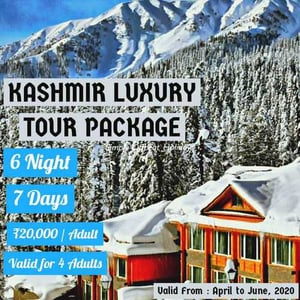 6 Nights 7 Days Kashmir Luxury Tour Package Services