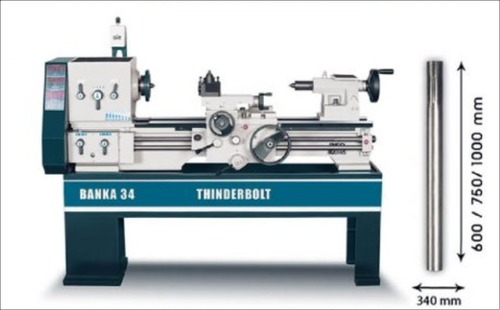 Light Duty All Gear Lathe Machine 5 And 6 Feet With Centre Height 170 mm/6.5 inch