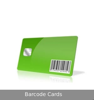 Green PVC Barcode Cards