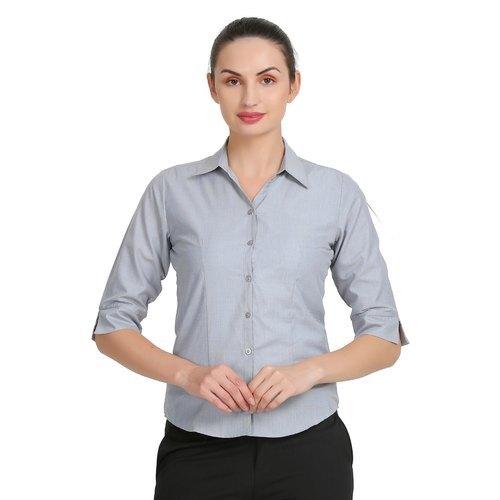 Ladies Zx3 Plain Cotton Shirt