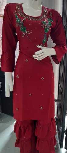 Skin Friendliness Ladies Sharara Suit