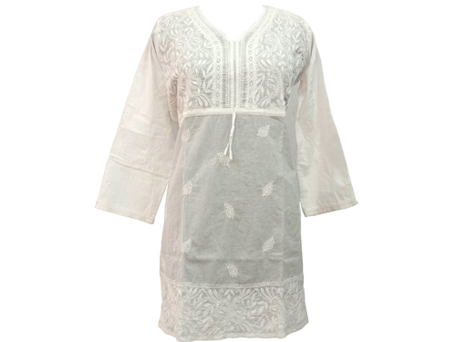 Chikankari Lucknowi Embroidered Blouse - Women's Fashion Top