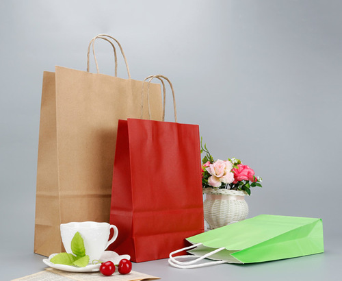 Food Takeout Kraft Paper Bags With Twisted Handle
