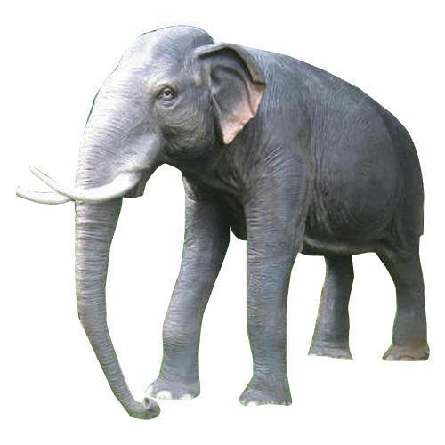Grey FRP Elephant Statue