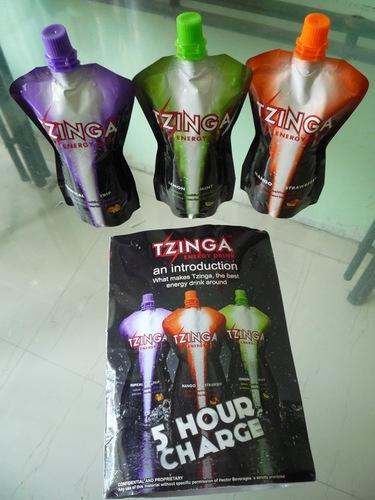 Tzinga High Energy Drinks