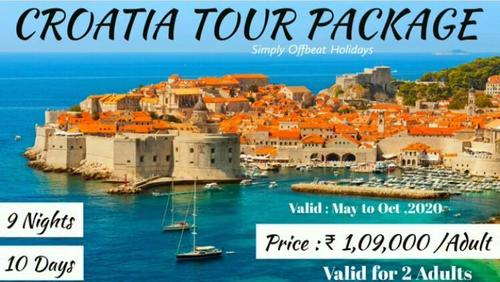 9 Nights 10 Days Croatia Tour Package Services