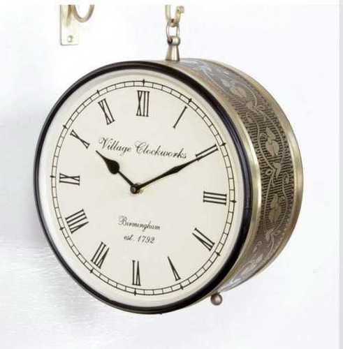 Railway Double Sided Wall Clock