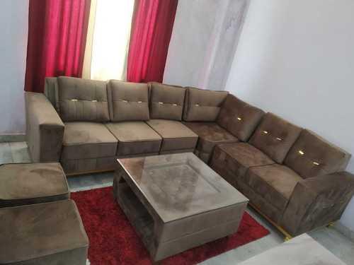 Brown L Shaped Sofa Set