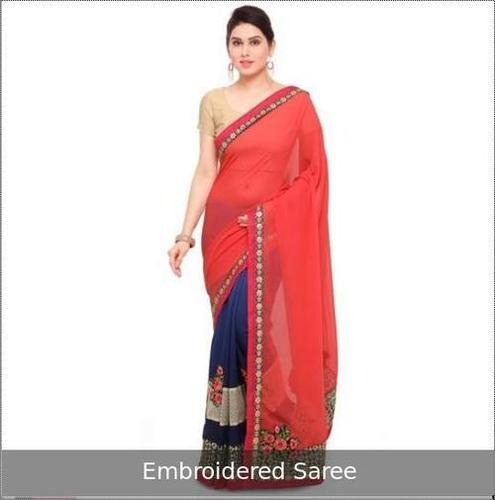 Fade Resistance Embroidered Saree