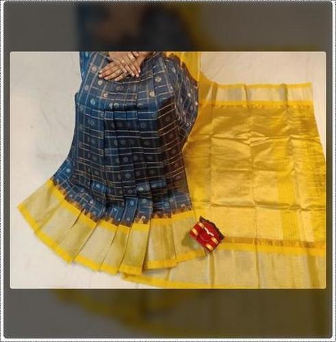 Fade Resistance Ladies Kuppadam Handloom Silk Saree