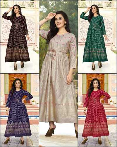 Full Sleeve Anarkali Kurtis