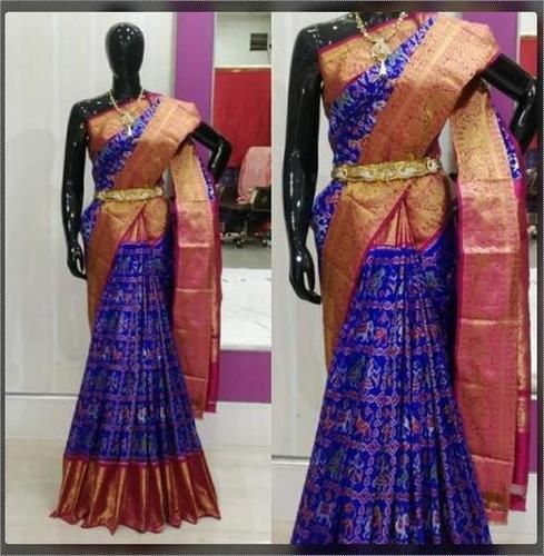 Ikkat And Kanchipuram Ladies Sarees