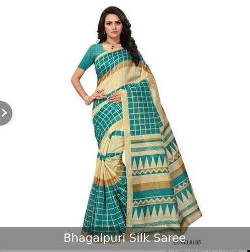 Impeccable Finish Bhagalpuri Silk Saree