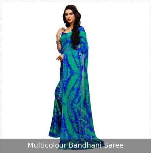 Machine Washed Ladies Bandhani Saree