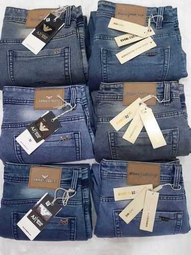 Mens Knitted Denim Jeans